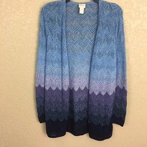 Chico's Size 0 Knit Ombré Cardigan Sweater E79/2